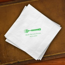 Prentiss Beverage Napkins - Fork Design