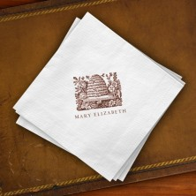 Prentiss Beverage Napkins - Hive Design