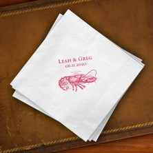 Prentiss Beverage Napkins - Lobster Design