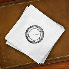 Prentiss Beverage Napkins - Plate Design