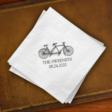 Prentiss Beverage Napkins - Bicycle Design