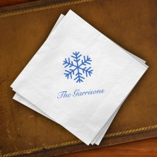 Prentiss Beverage Napkins - Snowflake Design