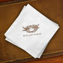 Prentiss Beverage Napkins - Knot Design