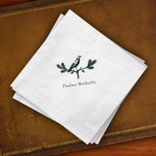 Prentiss Beverage Napkins - Bird Design