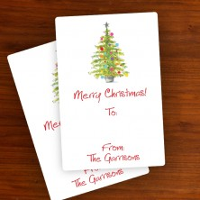 "Christmas Tree To:/From: Labels 3"" x 2"""