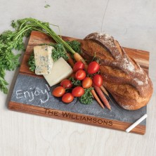 Rustic Wood & Slate Board