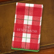 Red Plaid Guest Towels