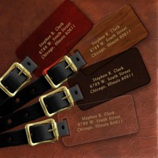 Stamped Luggage Tag