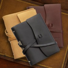 Medium Leather Journal with Strap