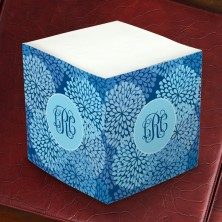 Merrimade Self Stick Memo Cubes - Blue Blossoms