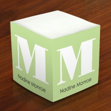 Merrimade Self Stick Memo Cubes - Lime Block