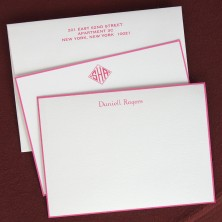 Hot Pink Bordered Cards