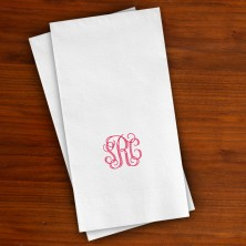 Designer Textured Guest Towels with Monogram