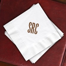 Designer Super Soft Beverage Napkins with Monogram