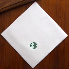 White Paper Linen Dinner Napkins
