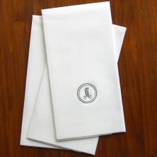 White Paper Linen Guest Towel
