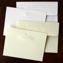 Designer Embossed Correspondence Cards