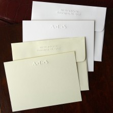 Designer Embossed Correspondence Cards - with Monogram