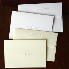 Designer Embossed Notes - with Monogram