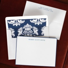 Navy Bordered Correspondence Cards