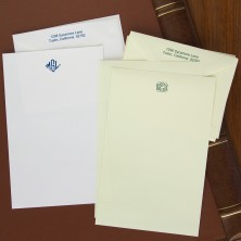 Merrimade Formal Stationery - Half Sheets with Monogram