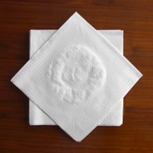 Embossed Initial Buffet Napkins