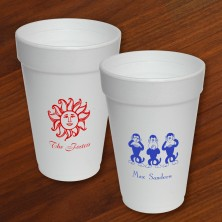 Designer Foam Cups - with Design