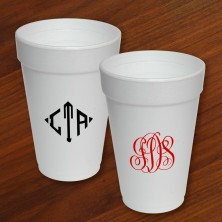 Designer Foam Cups - with Monogram