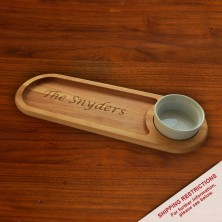 Dipping/Serving Hardwood Cutting Board