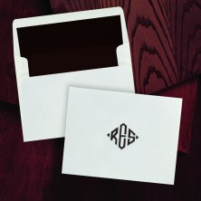 100% Cotton Notes - with Monogram