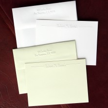 Imperial Embossed Correspondence Cards