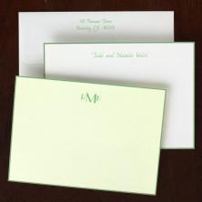 Sage Bordered Correspondence Cards