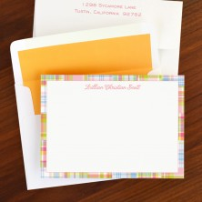 Madras Patch Pink Correspondence Cards