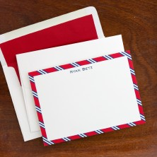 Repp Tie Red & Navy Correspondence Cards