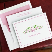 Ribbon Pink Fold Notes