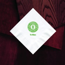 Designer Super Soft Beverage Napkins With Initial