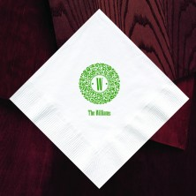 Designer Super Soft Buffet Napkins With Initial