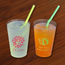 Designer 12 oz. Clear Tumblers - with Design