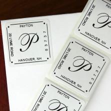 Square Labels - Script