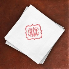 Ornate Frame Beverage Napkins