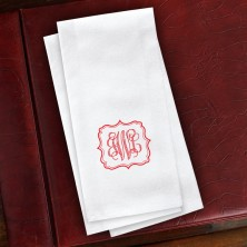 Ornate Frame Guest Towels