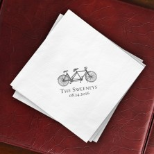 Prentiss Dinner Napkins - Bike Design