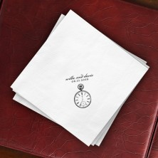 Prentiss Dinner Napkins - Clock Design