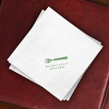 Prentiss Dinner Napkins - Fork Design