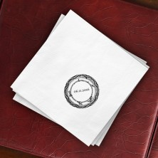 Prentiss Dinner Napkins - Plate Design