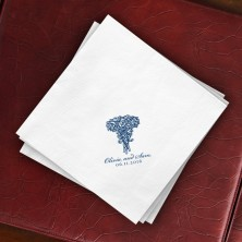 Prentiss Dinner Napkins - Roses Design