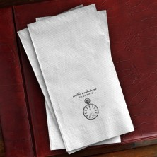 Prentiss Guest Towels - Clock Design