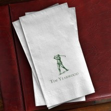 Prentiss Guest Towels - Golfer Design