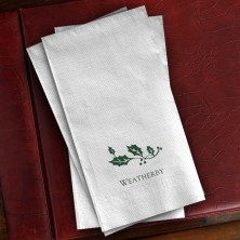 Prentiss Guest Towels - Holly Design