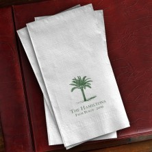 Prentiss Guest Towels - Palm Tree Design